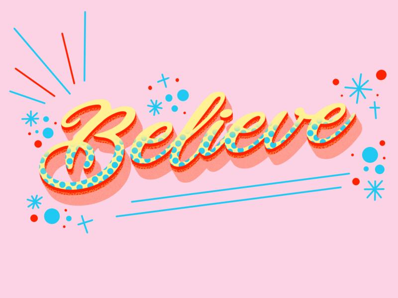 Believe positivity believe visual design procreateapp sketch illustration