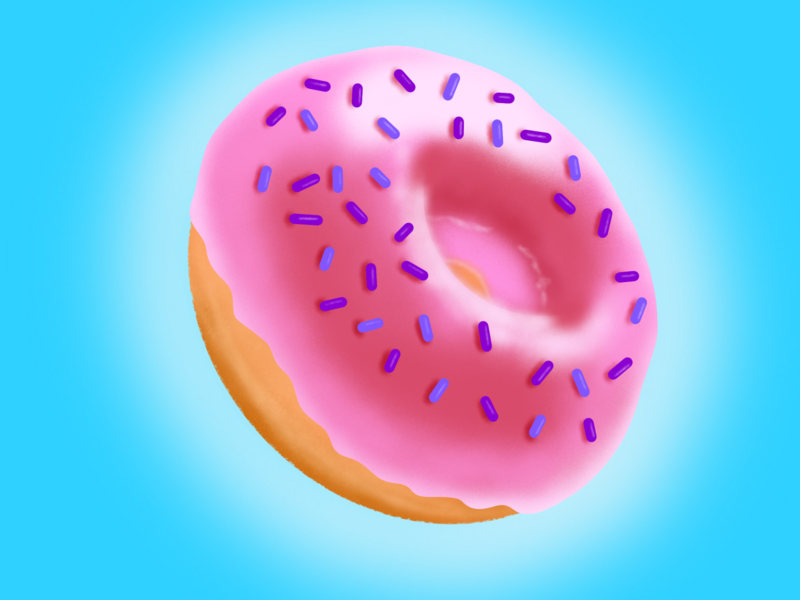 Doughnut sprinkles food procreate visual design procreateapp sketch illustration concept doughnuts doughnut