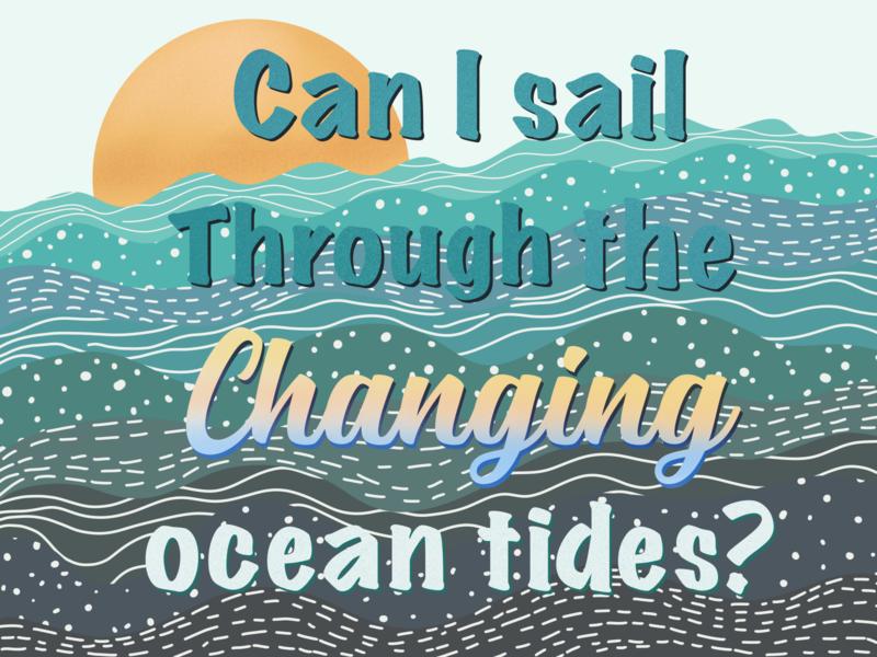 I have a Fleetwood Mac obsession sun sunset waves music visual design procreateapp design illustration concept tides ocean sail fleetwoodmac
