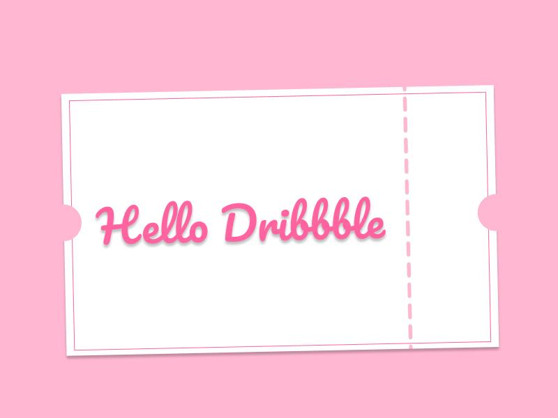 Hello! hellodribbble