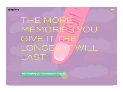 Memory maker website concept