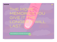 Memory maker website concept