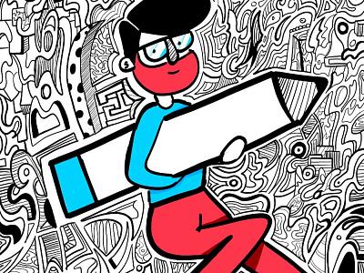 Quarantine Drawings photoshop portait sketch doodleart doodle 2d illustration