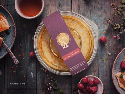 Packaging design for handmade crepes design photoshop photography logo package design packaging mockup color branding brand identity
