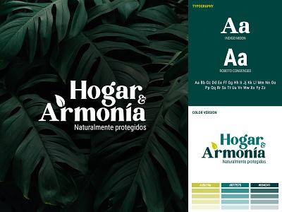 Hogar & Armonía - Brand nature green typography colorpalette logo branding brand identity design