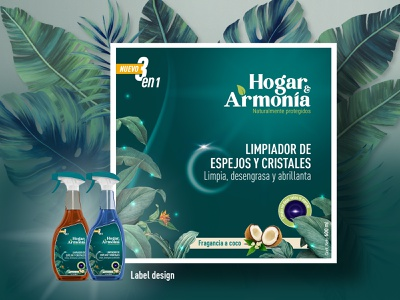 Label design for cleaning products mockup logo cleaning green eco labeldesign packaging colorpalette branding design