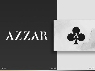 Azzar elegant clover minimalistic clothing typography brand identity design vector icon logo branding design brand branding