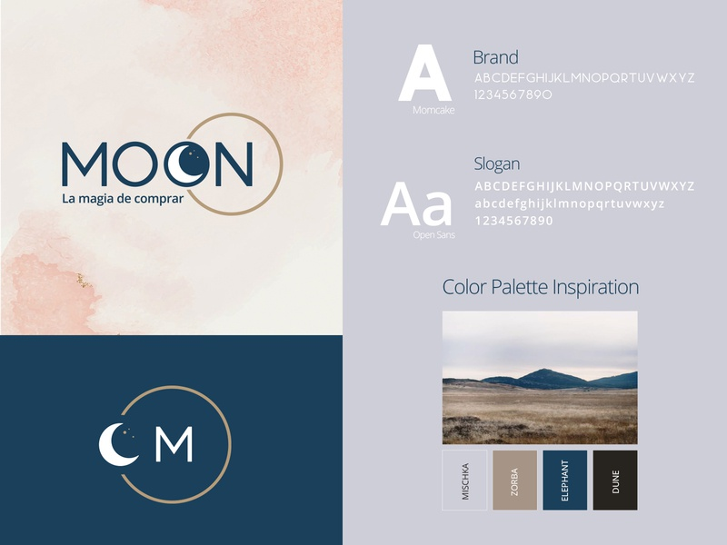 MOON Store ecommerce store shopping moon color typography brand identity logo colorpalette branding design