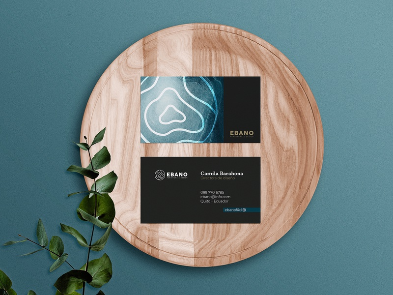 EBANO - Furniture Design Brand Exploration mockup business card design businesscard furniture wood texture typography logo brand identity colorpalette branding design