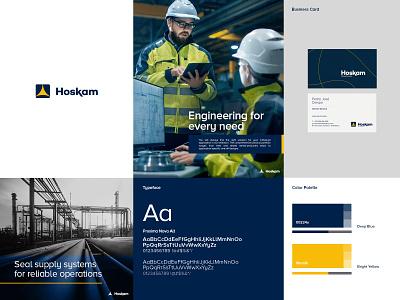 Hoskam Branding Identity businesscard color vector typography engineering logo brand identity colorpalette design branding app