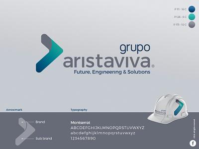 Branding - Grupo Aristaviva energy engineering illustrator typography vector logo icon design colorpalette color branding brand identity