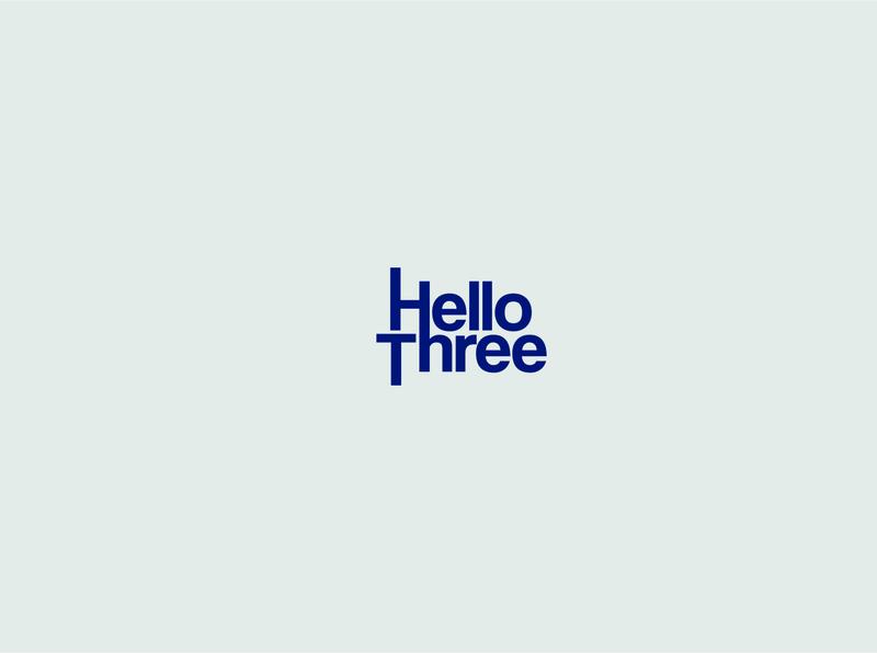 hello three logo text simple logo logo three logo number logodesign logotype logo design branding logo a day logo mark logo concept logo type logo maker logo brand logo design logo branding logo