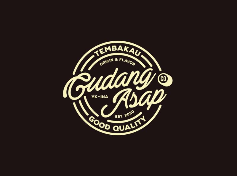 Gudang Asap Co logo typography ciggaretess logo brand mark logo tembakau lettermark logo lettering logo concept logo design logo type logo brand logo branding logotype logo mark