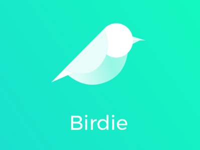 Birdie logo illustration