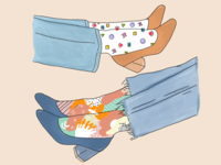 90s sock patterns
