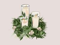Wedding invitation florals