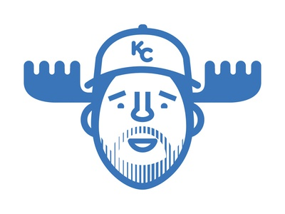 Moose (Mike Moustakas) champs world series antlers vector baseball kansas city kc royals moose