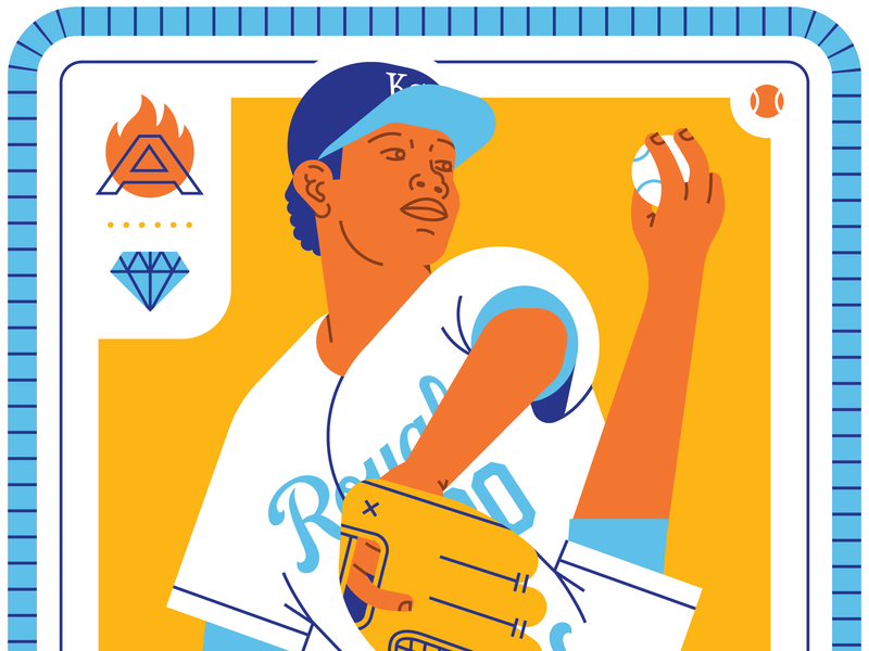Yordano Ventura Tribute ace sports yordano ventura fire playing card diamond baseball kansas city royals