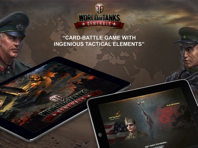 World of tanks Generals - Browser & IOS game strategy ipad browser ios generals tanks battler game card ui ux