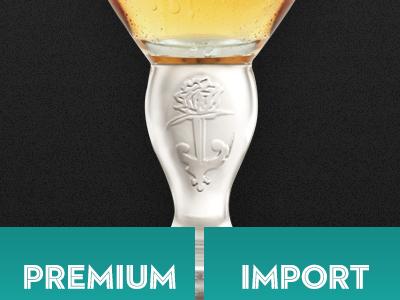 Premium or Import beer menu food drink beverage vip fancy draught