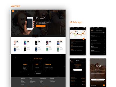 Orange Redesign Concept app website mobile redesign concept orange