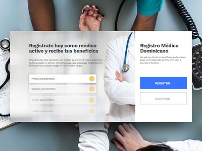 Medical Signup dominicanrepublic website ui republic dominican