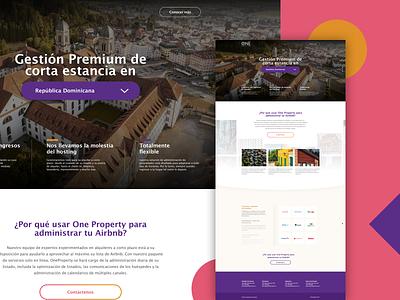 One Property Landing Page ui design website dominican dominicanrepublic