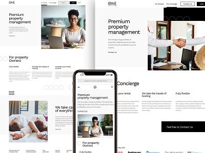 UI Design for Property Management Platform blackandwhite white minimalist minimal mobile website dominicanrepublic uidesign