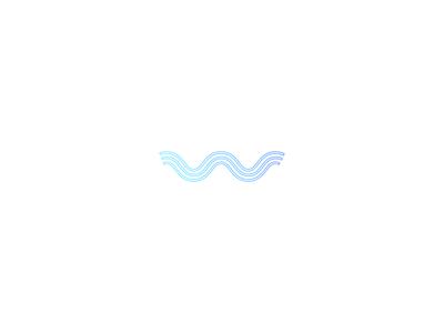 Warp logo blue water