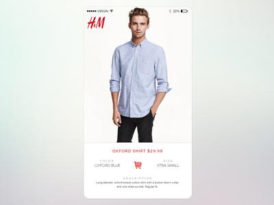 H&M App ecommerce shop app fashion