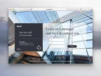 Wolf identity web design premium design estate real luxury branding logo