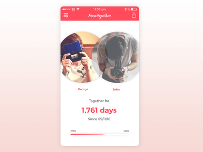 Been Together App red couple love app