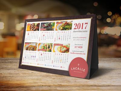 2017 Calendar branding restaurant calendar