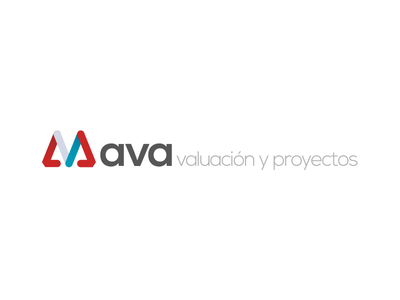 Ava Consulting business firm consulting gray blue red modern logo branding design