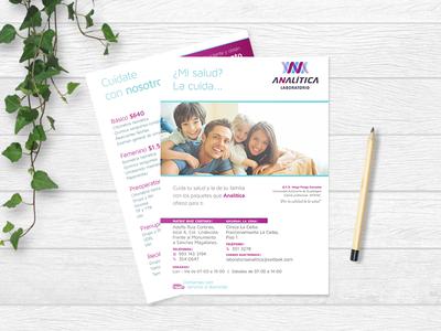 Analitica - flyer design health clinic advertising flyer