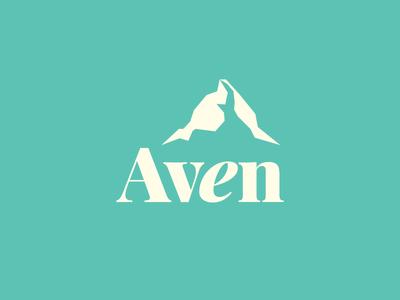 Aven mint logo women design apparel mountain clothing