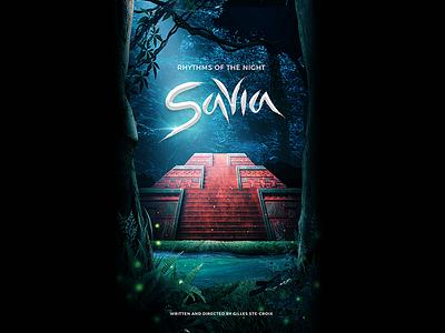Rhythms of the Night: Savia circus cirque pyramid mexico magic logo show theatre illustration design poster