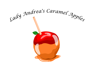 Lady Andreas Caramel Apples layers color caramel logo special gourmet