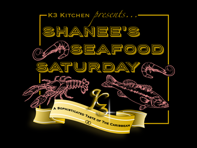 K3 Kitchen food artisan dynamic color layout graphic saturday seafood