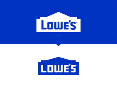 Logos Reworked 2 lowes blue vector logo tools improvement home