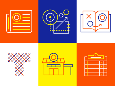 Icons store communication vector lines minimal iconography thread newspaper innovation scoreboard playbook icons icon