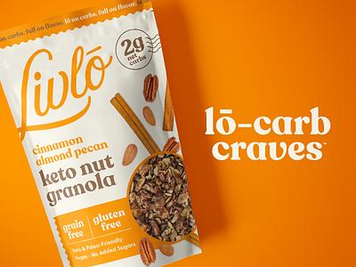 Livlō Branding keto snacks low carb granola identity branding packaging logo