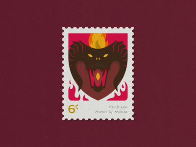 LOTR Stamps - 3/3 balrog stamp lord of the rings lotr