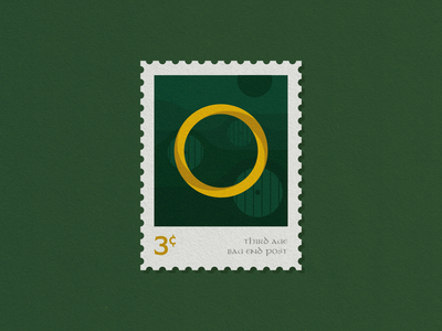 LOTR Stamps - 1/3 ring hobbit bag end shire stamp lord of the rings lotr