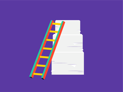 Project Onboarding purple colorful paper pile pile of paper paper ladder project onboarding project management project