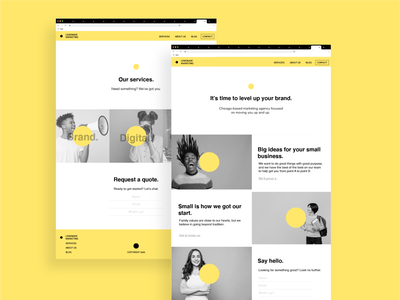Lemonade Marketing agency web design agency consulting mockup design mock-up web design yellow marketing site landing page mockups mockup marketing agency digital agency