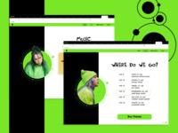 Billie Eilish Website Concept
