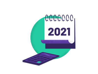 Budgeting for 2021 green purple featured image webinar calculation 2021 budgeting calculator calendar illustration