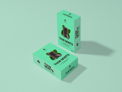 THiN MiNTS mockup packaging snack package box design mint rebound package redesign package design cookie package design cookie girl scouts thin mints