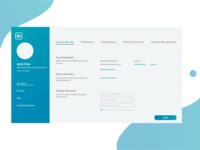 LinkedIn Settings Redesign